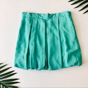 Alice + Olivia Turquoise Bubble Mini Skirt